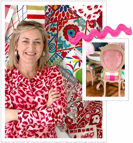 Collage of Wendy Conklin and various fabrics