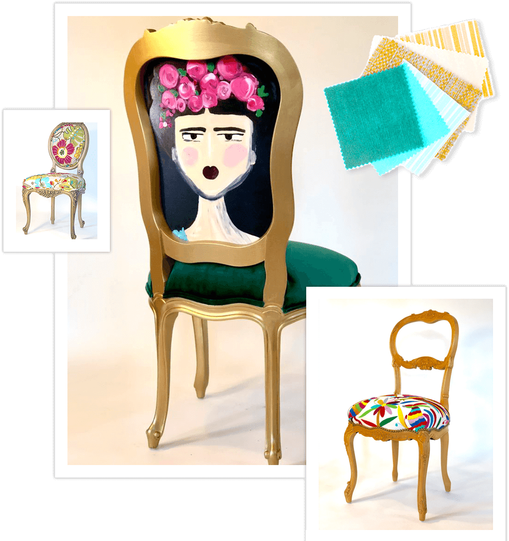 boho style upholstered chairs